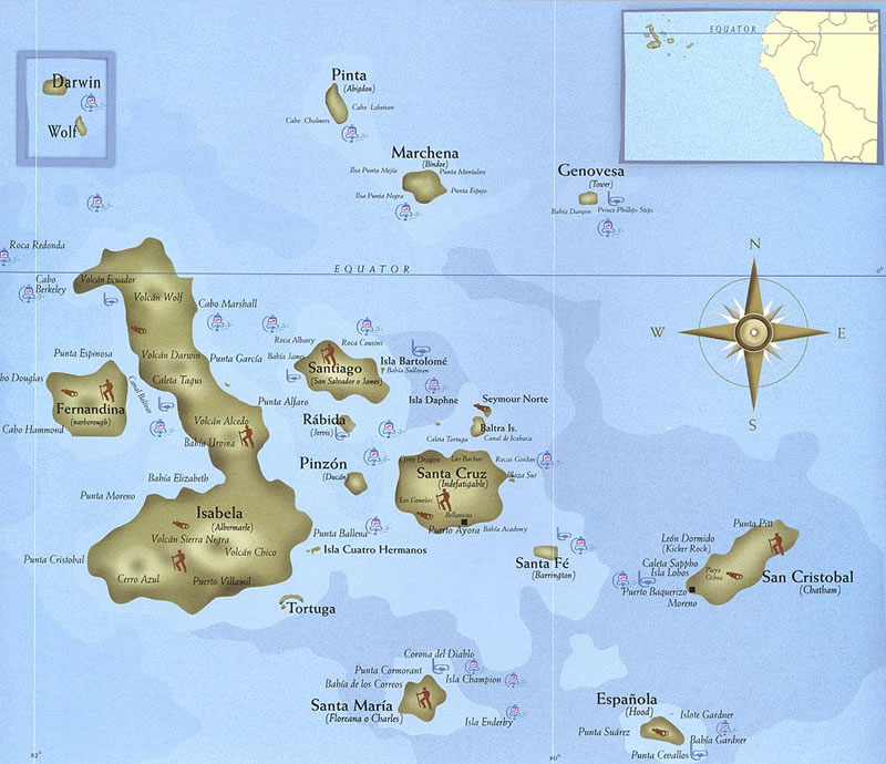 Galapagos kaartje